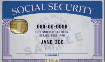 SSN number social secutiry card