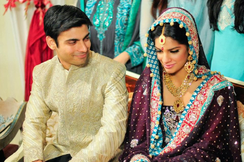 Pakistani couple in a wedding